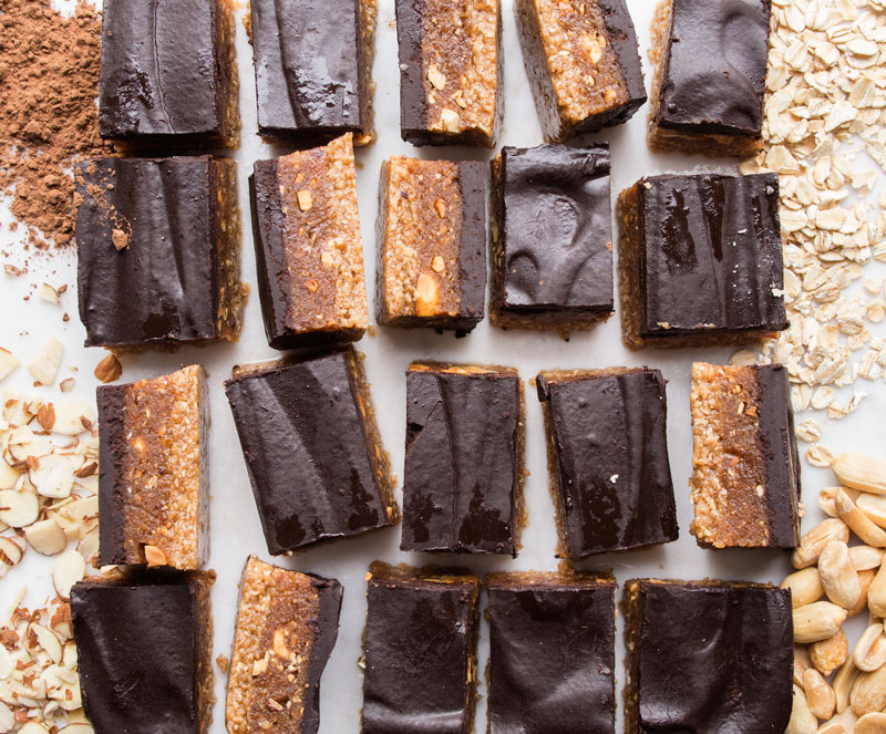 Homemade Snickers Bars with-Converstions