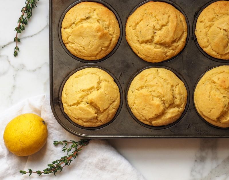 Lemon, Olive Oil & Thyme Muffins
