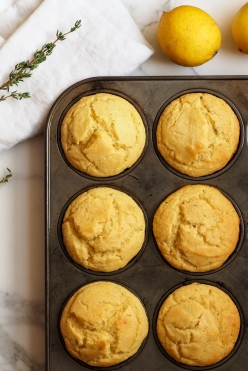 Tuscan Inspired Lemon-Olive Oil Muffins